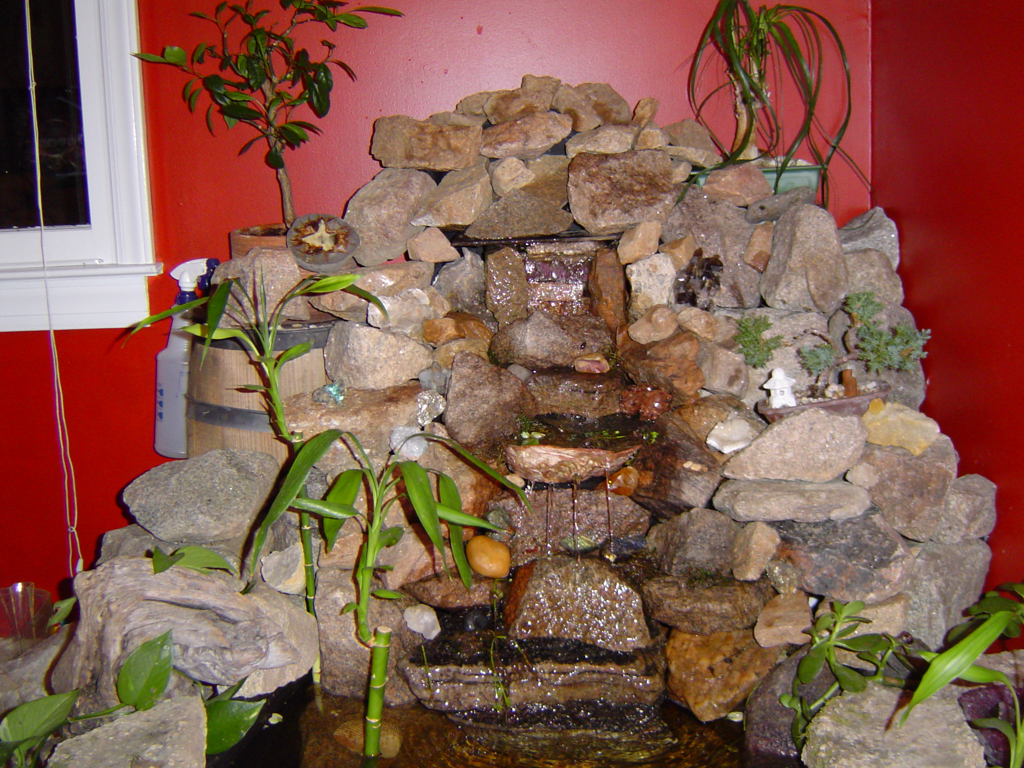 Sales design installation and repair of water fountains - Waterfall designs for indoor ...