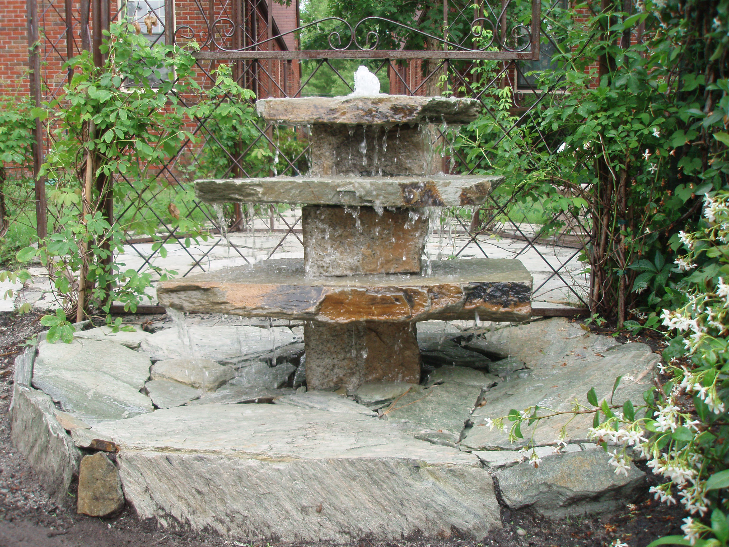 Natural stone fountains outdoor inspirational Backyard water features